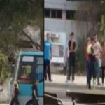 Gjirokastër, sherr në '18 Shtatori' mes policit, shoferit dhe faturinos së autobusit (VIDEO)
