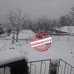 Dëborë në Zagori, bllokohet rruga nga Çajupi (FOTO)