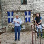 Çohet flamuri i 'Vorio Epirit' në Dropull. I pranishëm edhe kryetari i bashkisë, Ahilea Deçka (VIDEO)