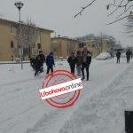 Dëbora izolon Libohovën, kalimi në rrugën kryesore vetëm me zinxhirë (FOTO)