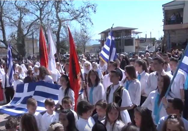 Dropull, festohet në Dervician Dita e Pavarësisë së Greqisë