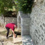 Ramën e zë vapa në Labovën e Kryqit, freskohet me ujin e Buretos në kroin e fshatit (VIDEO)