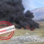Masakër mjedisore, shihni si digjen gomat në rrugën Sofraktikë-Libohovë (FOTO&VIDEO)