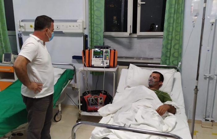 Emergjenca nga zjarret, ushtari nga Libohova asfiksohet dhe përfundon në spitalin e Gjirokastrës. Peleshi: Shërim të shpejtë Edlir!